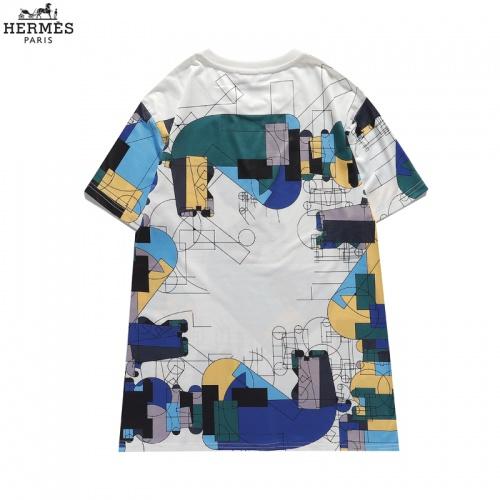 Replica Hermes T-Shirts Short Sleeved For Men #836037 $29.00 USD for Wholesale