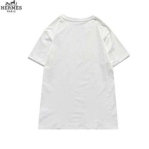Replica Hermes T-Shirts Short Sleeved For Men #836040 $29.00 USD for Wholesale