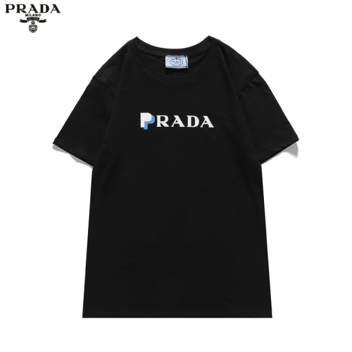 Prada T-Shirts Short Sleeved For Men #836051 $25.00 USD, Wholesale Replica Prada T-Shirts