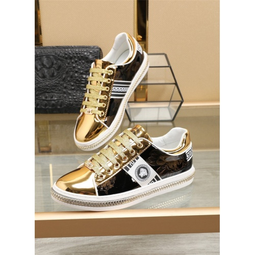 Versace Casual Shoes For Men #836070 $80.00 USD, Wholesale Replica Versace Casual Shoes