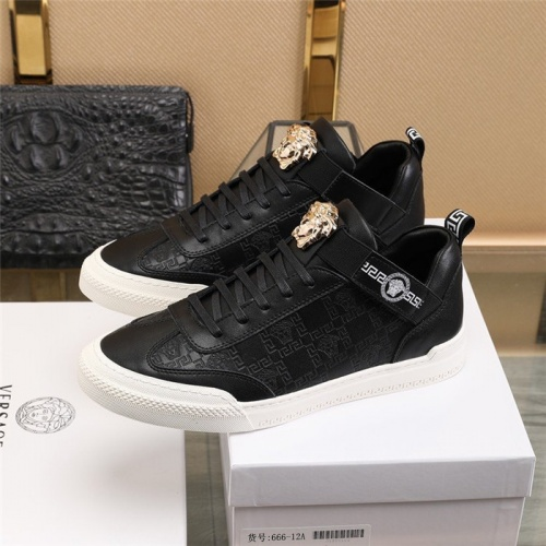 Replica Versace Casual Shoes For Men #836073 $82.00 USD for Wholesale