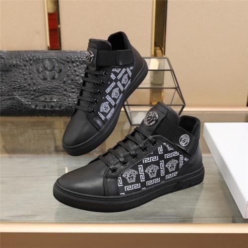Versace Casual Shoes For Men #836075 $85.00 USD, Wholesale Replica Versace Casual Shoes
