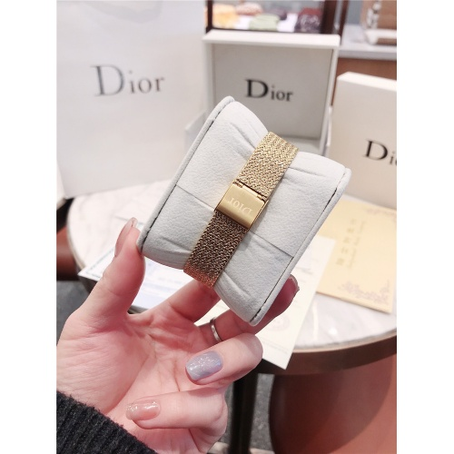 Replica Christian Dior AAA Quality Watches In Gold For Women #836326 $96.00 USD for Wholesale