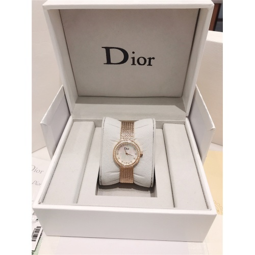 Replica Christian Dior AAA Quality Watches In Gold For Women #836329 $96.00 USD for Wholesale