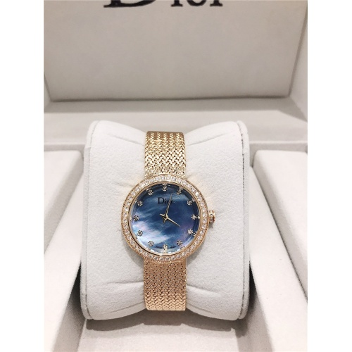 Christian Dior AAA Quality Watches In Gold For Women #836334 $96.00 USD, Wholesale Replica Dior Quality Watches