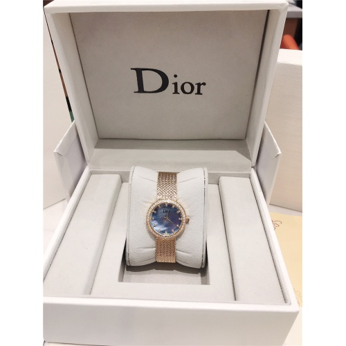Replica Christian Dior AAA Quality Watches In Gold For Women #836334 $96.00 USD for Wholesale