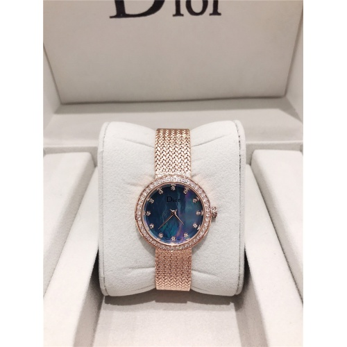 Christian Dior AAA Quality Watches In Rose Gold For Women #836340 $96.00, Wholesale Replica Dior Quality Watches