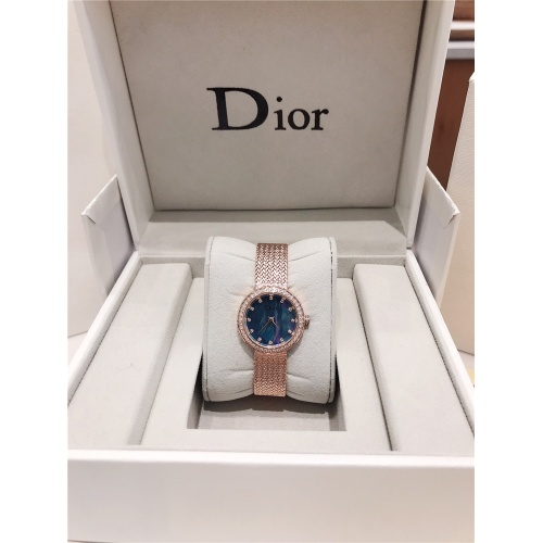 Replica Christian Dior AAA Quality Watches In Rose Gold For Women #836340 $96.00 USD for Wholesale