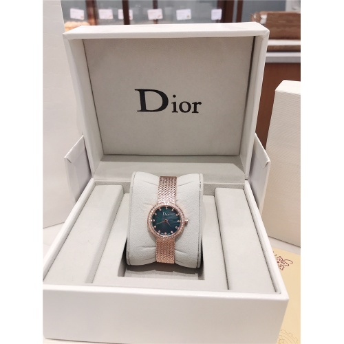 Replica Christian Dior AAA Quality Watches In Rose Gold For Women #836341 $96.00 USD for Wholesale