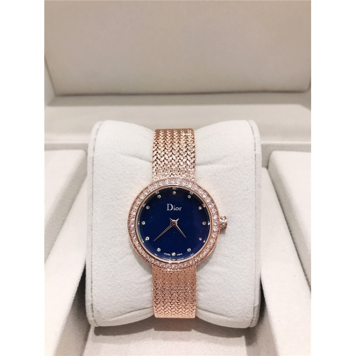 Christian Dior AAA Quality Watches In Rose Gold For Women #836342 $96.00, Wholesale Replica Dior Quality Watches