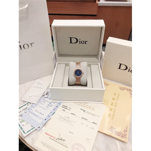 Replica Christian Dior AAA Quality Watches In Rose Gold For Women #836342 $96.00 USD for Wholesale