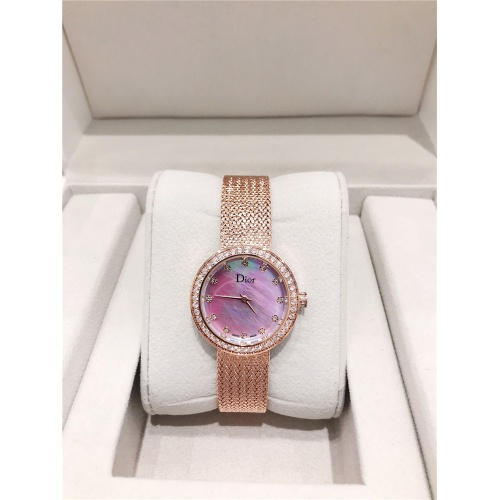 Christian Dior AAA Quality Watches In Rose Gold For Women #836343 $96.00, Wholesale Replica Dior Quality Watches