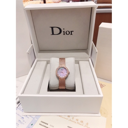 Replica Christian Dior AAA Quality Watches In Rose Gold For Women #836343 $96.00 USD for Wholesale
