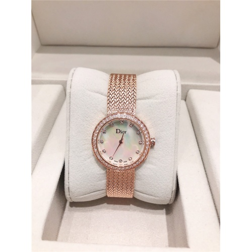Christian Dior AAA Quality Watches In Rose Gold For Women #836344 $96.00, Wholesale Replica Dior Quality Watches
