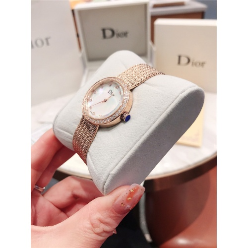 Replica Christian Dior AAA Quality Watches In Rose Gold For Women #836344 $96.00 USD for Wholesale