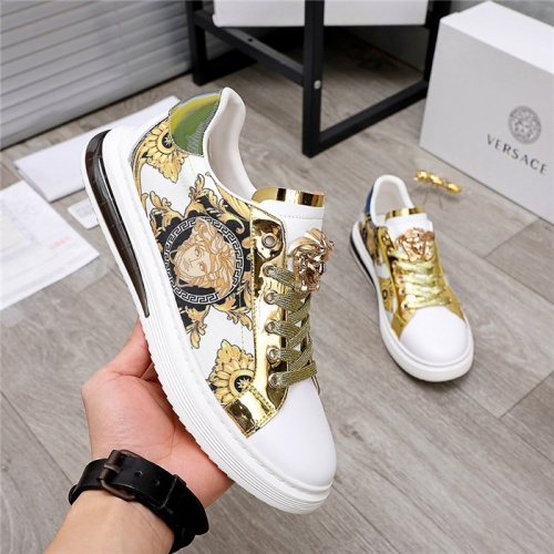 Replica Versace Casual Shoes For Men #836413 $80.00 USD for Wholesale