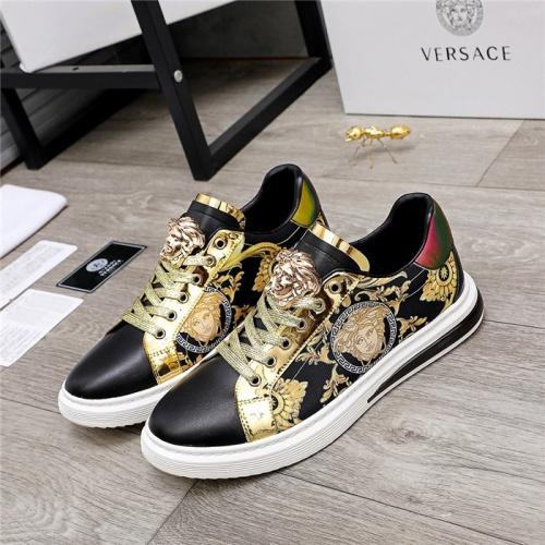 Versace Casual Shoes For Men #836414 $80.00 USD, Wholesale Replica Versace Casual Shoes