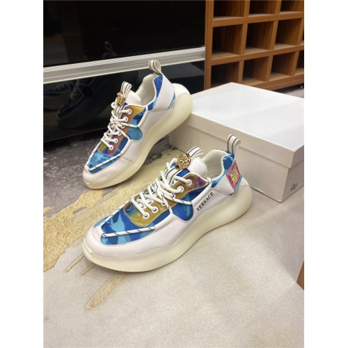 Versace Casual Shoes For Men #836420 $85.00 USD, Wholesale Replica Versace Casual Shoes