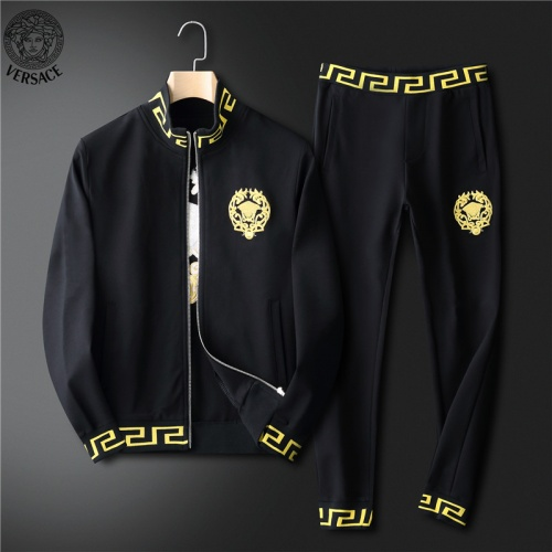 Versace Tracksuits Long Sleeved For Men #836610 $98.00 USD, Wholesale Replica Versace Tracksuits
