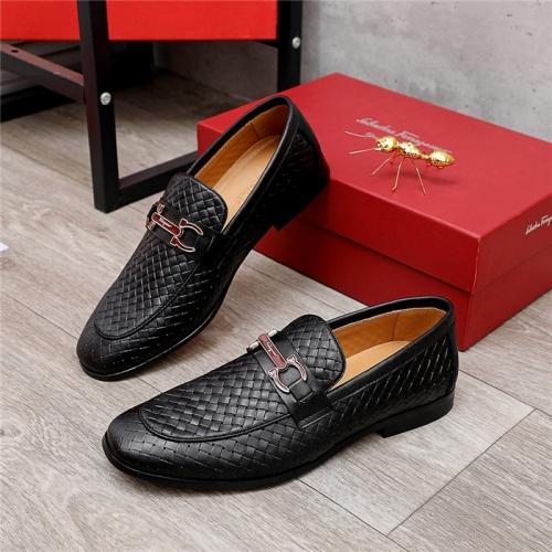 Ferragamo Salvatore FS Leather Shoes For Men #836688