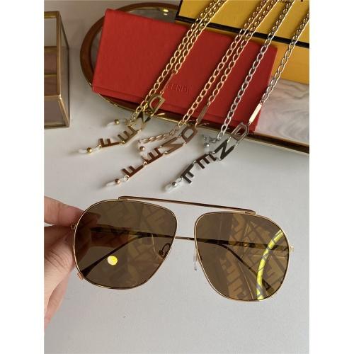 Fendi AAA Quality Sunglasses #836719 $48.00 USD, Wholesale Replica Fendi AAA Sunglasses