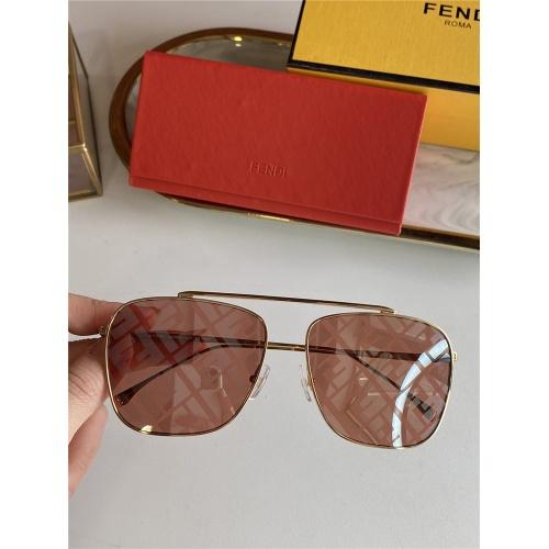 Fendi AAA Quality Sunglasses #836724 $52.00 USD, Wholesale Replica Fendi AAA Sunglasses