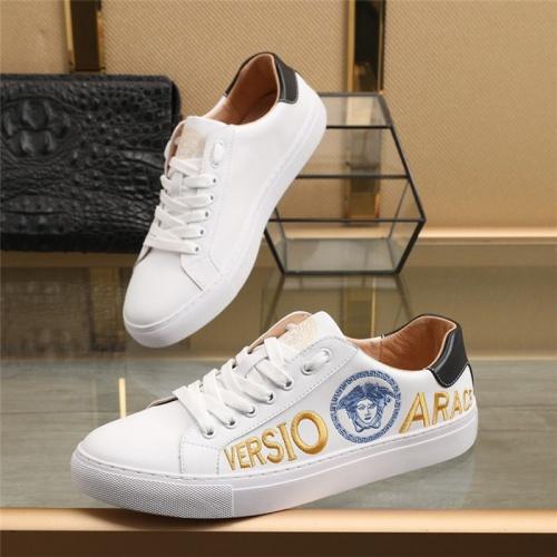 Versace Casual Shoes For Men #836763 $85.00 USD, Wholesale Replica Versace Casual Shoes