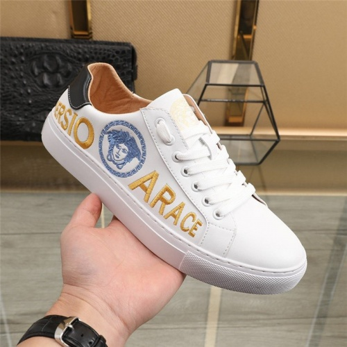 Replica Versace Casual Shoes For Men #836763 $85.00 USD for Wholesale