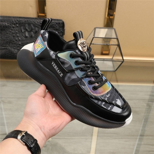 Replica Versace Casual Shoes For Men #836764 $92.00 USD for Wholesale