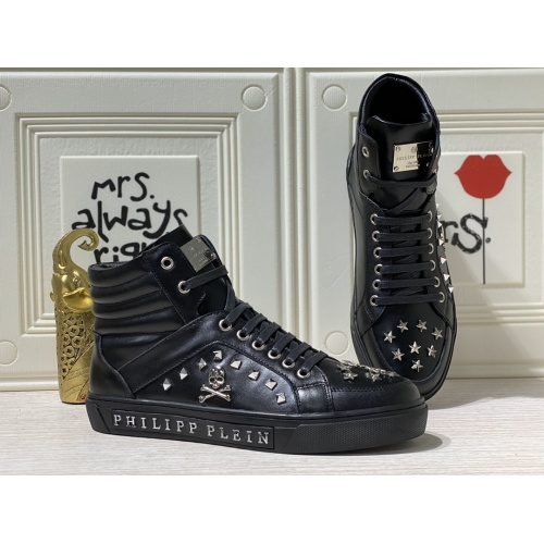 Philipp Plein PP High Tops Shoes For Men #836999