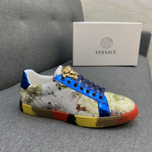 Replica Versace Casual Shoes For Men #837053 $80.00 USD for Wholesale