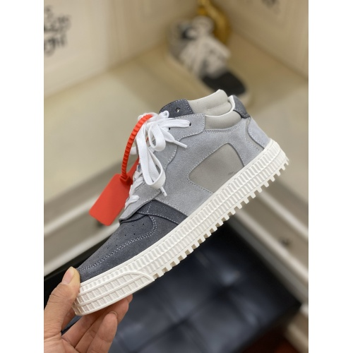 Replica Off-White High Tops Shoes For Men #837109 $98.00 USD for Wholesale