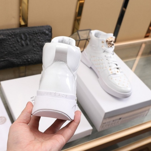 Replica Versace High Tops Shoes For Men #837127 $96.00 USD for Wholesale