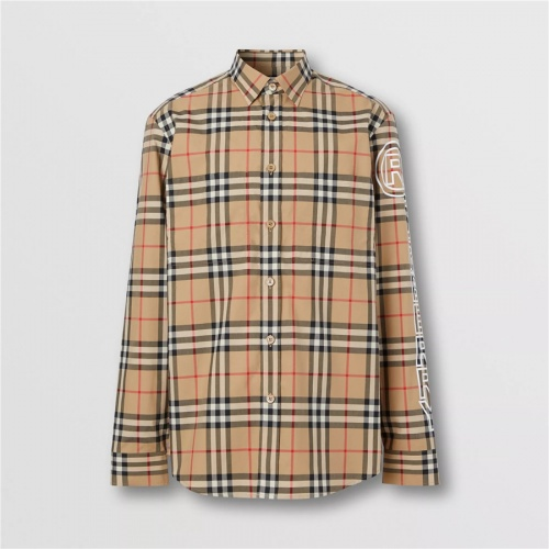 Burberry Shirts Long Sleeved For Men #837370