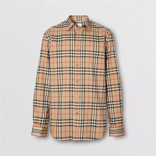 Burberry Shirts Long Sleeved For Men #837373