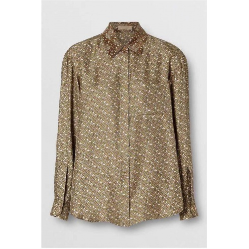 Burberry Shirts Long Sleeved For Women #837526