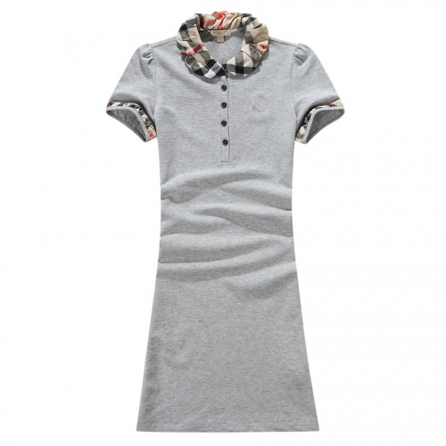 Burberry Dresses Short Sleeved For Women #837561 $38.00 USD, Wholesale Replica Burberry Dresses