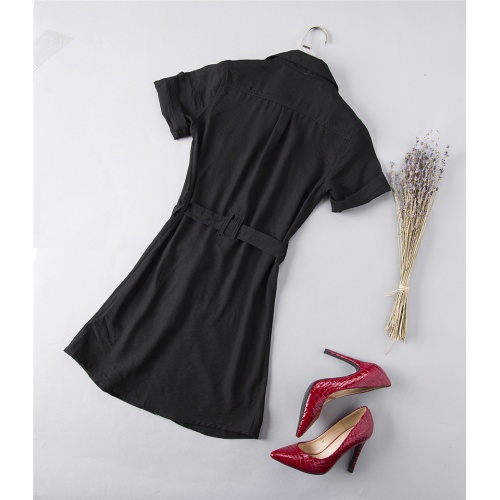 Replica Burberry Dresses Short Sleeved For Women #837564 $52.00 USD for Wholesale