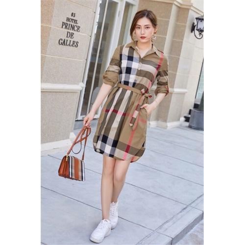 Burberry Dresses Short Sleeved For Women #837565