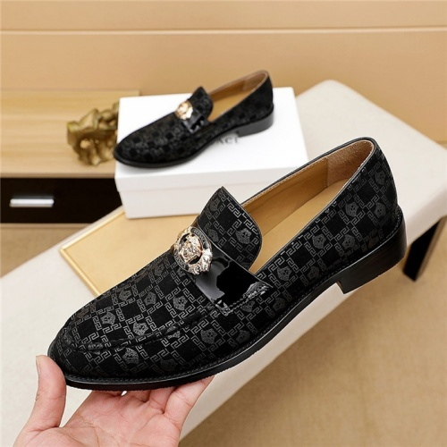 Replica Versace Leather Shoes For Men #838230 $80.00 USD for Wholesale