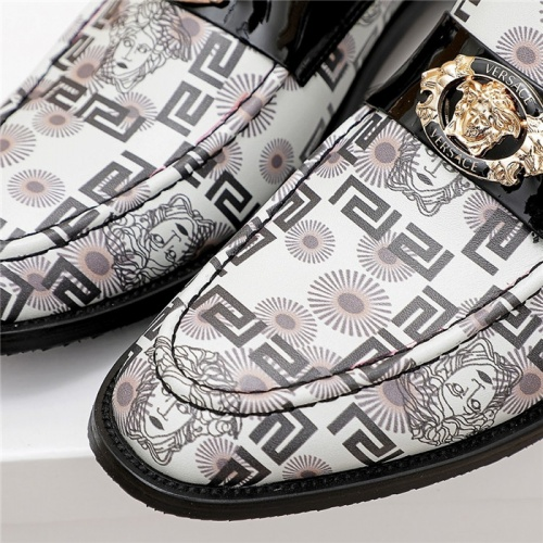Replica Versace Leather Shoes For Men #838231 $80.00 USD for Wholesale