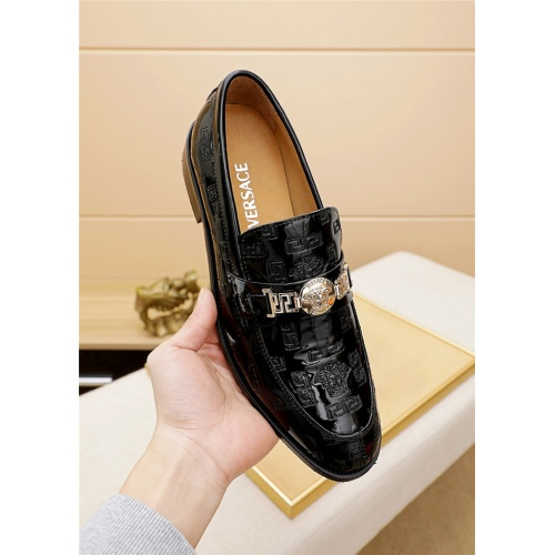 Replica Versace Leather Shoes For Men #838232 $82.00 USD for Wholesale