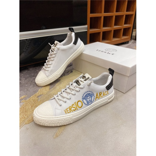 Versace Casual Shoes For Men #838288 $72.00 USD, Wholesale Replica Versace Casual Shoes