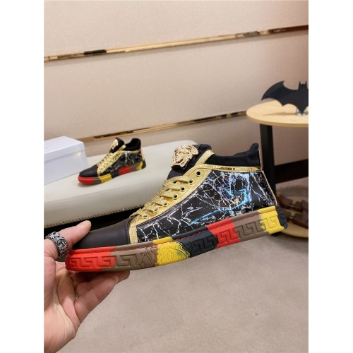 Versace High Tops Shoes For Men #838290