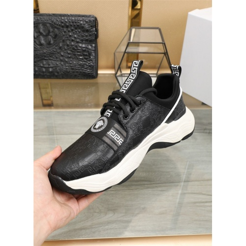 Replica Versace Casual Shoes For Men #838332 $82.00 USD for Wholesale