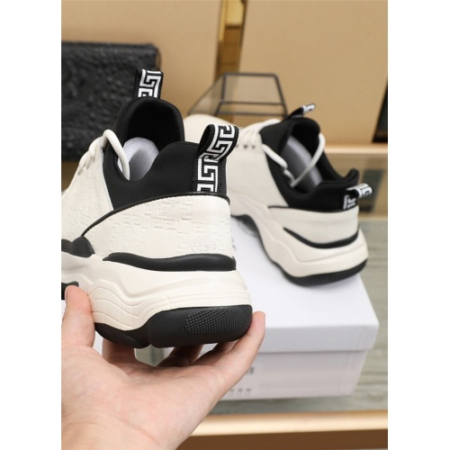 Replica Versace Casual Shoes For Men #838333 $82.00 USD for Wholesale
