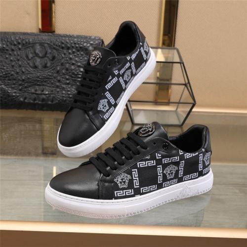 Versace Casual Shoes For Men #838334 $82.00 USD, Wholesale Replica Versace Casual Shoes