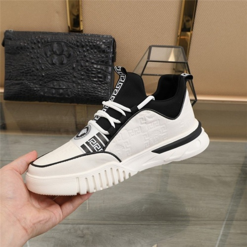 Replica Versace Casual Shoes For Men #838339 $82.00 USD for Wholesale