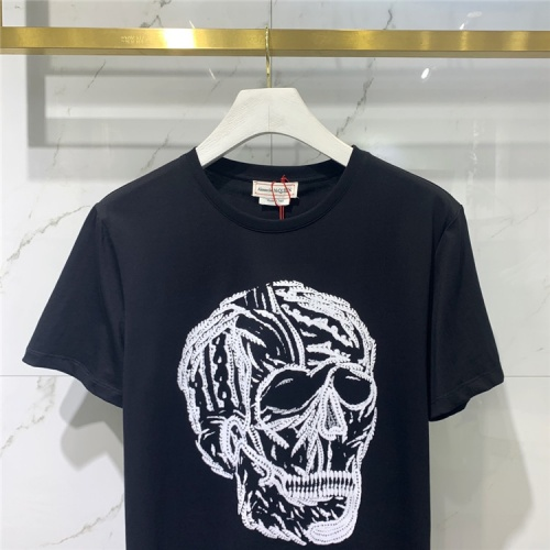 Replica Alexander McQueen T-shirts Short Sleeved For Men #838487 $41.00 USD for Wholesale