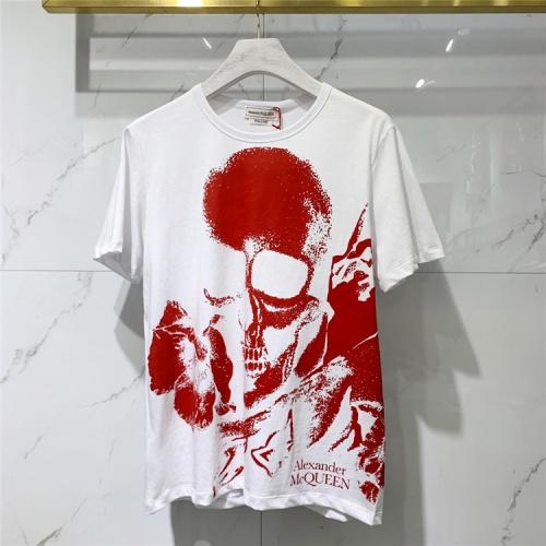 Alexander McQueen T-shirts Short Sleeved For Men #838500 $41.00 USD, Wholesale Replica Alexander McQueen T-shirts
